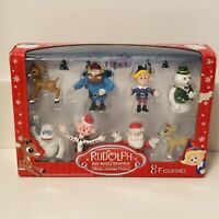 Collectible Rudolph the Red Nose Reindeer Set of 8 Figurines (Figures) Christmas