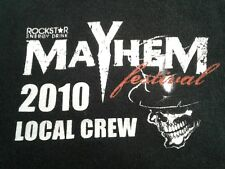 Rare Vintage Mayhem Festival 2010 Local Crew Shirt Size XXL