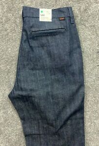 New Lee Fatigue Relaxed Stretch Jeans Denim Blue Mens W32 L32 #606