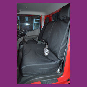Black Tailored Waterproof Front 3 Seat Covers Fits Nissan Cabstar 2007+