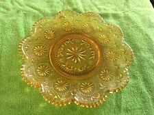 """Amber color 6 1/2"""" glass plate"""