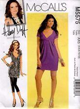 McCall's M5575 Dress & Tunic Top Hilary Duff Sewing Pattern Uncut Size 4 to 12