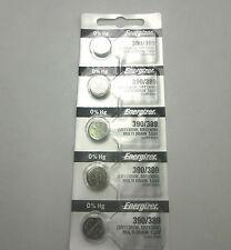 5Pcs Energizer 390 389 Silver Oxide SR1130SW Watch Batteries