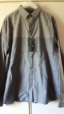 BNWT MEN'S XXL TWO TONE GREY SLIM FIT WINTER SHIRT AUTOGRAPH MARKS & SPENCER £39