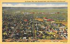 La Crosse Wisconsin Birdseye View Of City Antique Postcard K62142