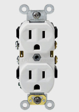 New!! LEVITON White Thermoplastic Indoor Grounded OUTLET 15 Amp 125V CBR15-00W