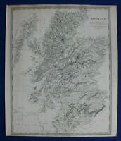 SCOTLAND, HIGHLANDS, HEBRIDES, original antique map, SDUK, 1844