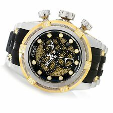 @NEW Invicta Reserve 52mm Bolt Zeus Swiss Made Twisted Metal Poly Strap 20419