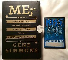 GREAT GIFT KISS Gene Simmons signed book, rare guitar pick & pass  $120+ Retail