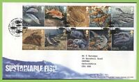 G.B. 2014 Sustainable Fish set on Royal Mail First Day Cover, Tallents House