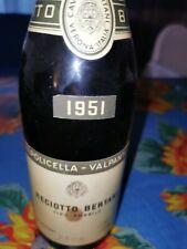 BERTANI RECIOTO della VALPOLICELLA 1951 Amabile ML. 750 da collezione