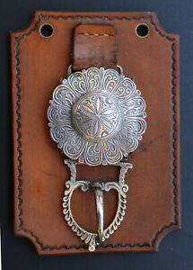 Antique Esqustrian Belt Buckle 19th c. Spanish Colonial South American Silver