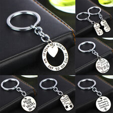 Heart Keyring Lovers Keychain Jewelry Pendant Women Men Gifts Charm Silver Hot