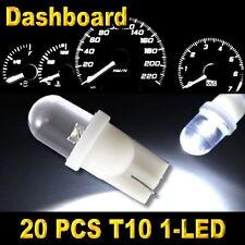 20x White T10 W5W 194 168 2825 1-LED Wedge Light Bulbs Car Dashboard Side Lamp