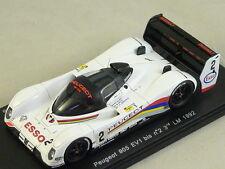 Spark S2595 - PEUGEOT 905 EV1 bis n°2 3ème Le mans 1992 Jabouille  1/43