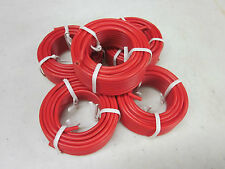100' ~Red~ All Purpose 14 Gauge Electrical Wire 5 Rolls Of 20' Radio Remote Etc