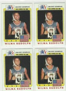 1983 Topps(?) Greatest Olympians **Wilma Rudolph *Card No. 94 **NEW *4 Card Lot
