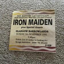 Iron Maiden ticket Glasgow Barrowlands 05/11/95