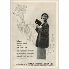 1949 Saks Fifth Avenue: Catch a New Yorkers Eye Vintage Print Ad