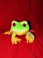 Ganz Lil'Kinz Tree Frog Webkinz Red Feet Yellow Belly Plush Toy Stuffed Animal