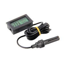 Digital LCD Temperature Luftfeuchtigkeit Thermometer Hygrometer mit Fühler Black