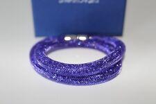 Swarovski stardust tanzanite colour double bracelet size medium RRP £69