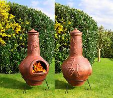 Großer original Mexico Terrassenofen Gartenkamin Aztekenofen aus Terracotta
