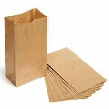 10PCS Candy Party Gift Wedding Food Buffet Paper Bag Kraft Brown Wrap Cookies