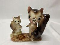 VTG Brinnco Kitsch Anthropomorphic Happy Squirrels Figurine Decor Nature Japan
