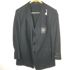 Ermenegildo Zegna Mens Size 46 L Gray Wool Blazer Jacket Single Breasted