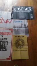 Lot d'affiches de groupes progressifs européens des années 80/90
