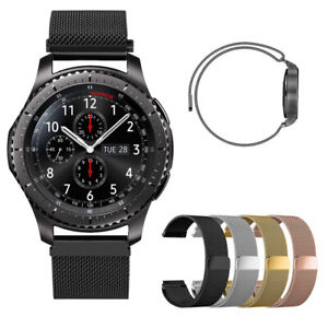 For LG W7/Sumsung Gear S3/46mm Smartwatch 22mm Milanese Wrist Band Magnetic Loop