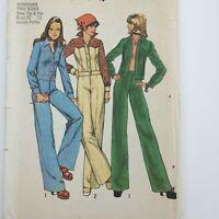 Vintage 70's Simplicity Pattern 6620 Jacket Pants Sz 7/9 Junior Petite Uncut UC