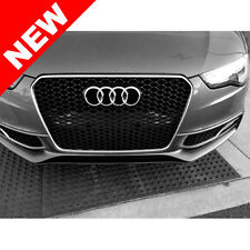 2013+ AUDI A5/S5 B8.5 RS5 STYLE EURO HONEYCOMB HEX MESH GRILLE - CHROME/BLACK