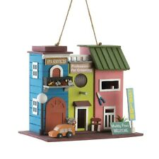HOME GARDEN DECOR PET SALON BIRD HOUSE BIRDHOUSE WOOD