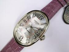 GRIMOLDI Borgonovo Automatic Silver Dial Watch Purple Pink Leather Date Milano