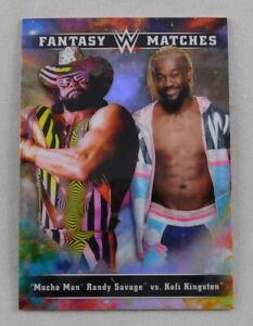 Randy Savage Kofi Kingston WWE Pro Wrestling Trading Card WWF Topps Chrome 2020