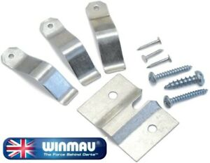 WINMAU DARTBOARD FIXING BRACKET - DART FIXINGS SCREWS - LEVELLERS - INSTRUCTIONS