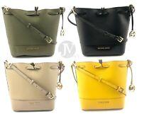 Michael Kors Trista Saffiano Leather Medium Bucket Bag Handbag