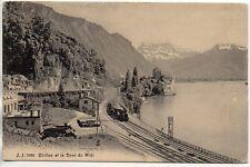 SUISSE SWITZERLAND canton de Vaud CHILLON train halte chemin de fer dent du midi