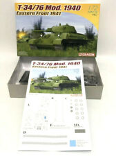Dragon 1/72 Scale Model T-34/76 Mod. Russian Tank 1940 Eastern Front 1941 Armor