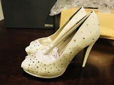 NIB Michaelangelo David's Bridal wedding Heels White Size 8