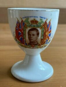 H.R.H. KING EDWARD VIII CORONATION 1937 SOUVENIR EGG CUP