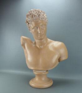 Superbe moulage du buste d' Hermès de Praxitèle ou Hermès d'Olympie, plâtre XXè.