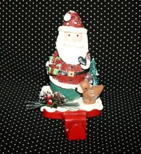 Christmas Holiday Santa Stocking Hanger Holder