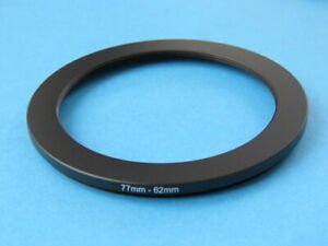 77mm to 62mm Stepping Step Down Ring Camera Lens Filter Adapter Ring 77-62mm