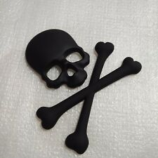 New Style 3D Metal Auto Car Sticker Skull Head Badge Emblem Tail Decal Black