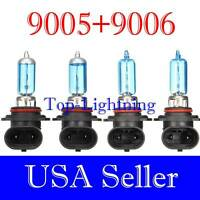 Combo 9006 9005 100W White Xenon Halogen 5000K Headlight Bulb #xh3 Hi/Low Beam
