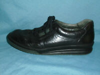 Mehpisto Match Runoff Mens Black Leather Walking Shoes Made in France US Size 11