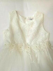 vestito per damigella bambina bianco CERIMONIA
